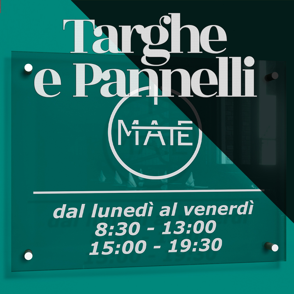 Targhe e Pannelli
